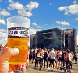 BravoRock cup of beer at Party San 2018