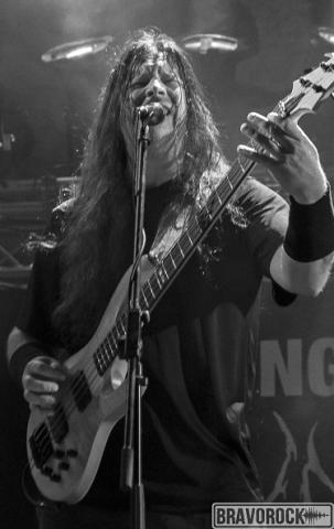 Dying Fetus guitar bass playing at party san 2018