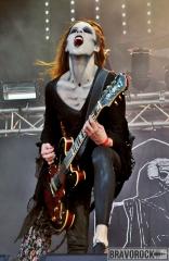 Tribulation guitarist playin at party san 2018
