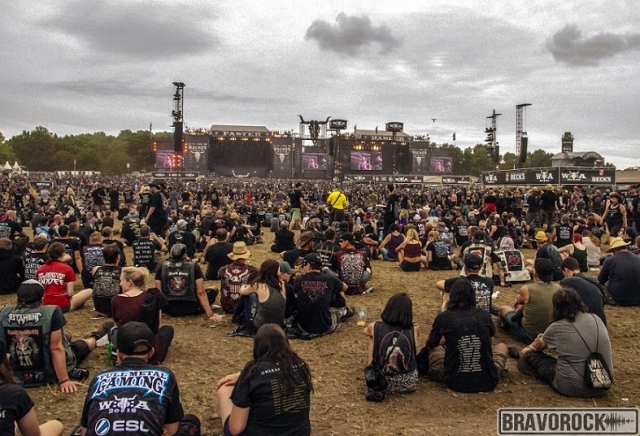 Wacken view of the stages 2018